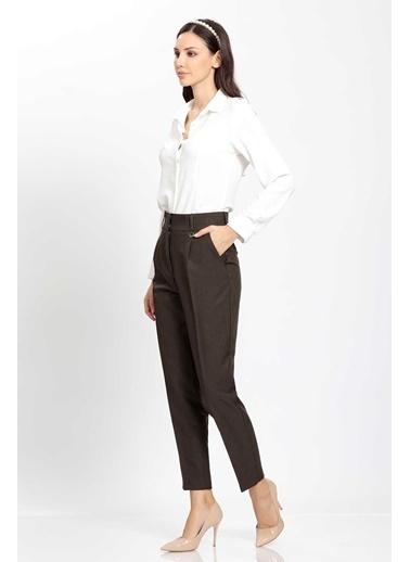 Vitrin Yüksek Bel Kumaş Pantolon Haki